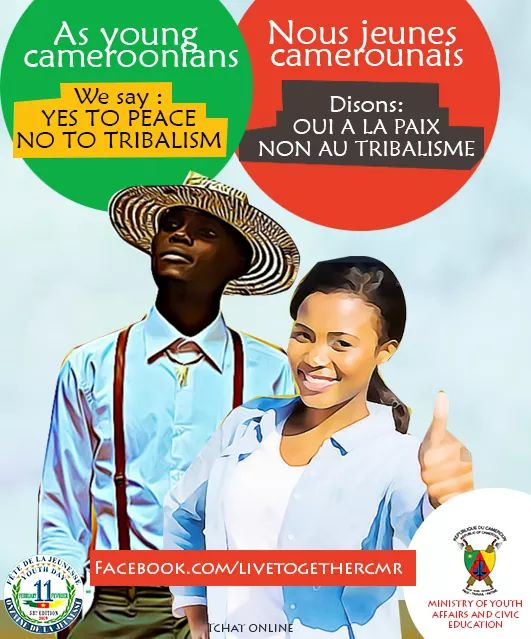 YOUTH PEOPLE TO SAY YES TO PEACE AND NO TO TRIBALISM
